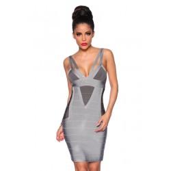 Bandage-Shape-Kleid 13390 Grau