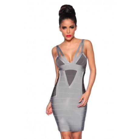 Bandage shape dress 13390 grey