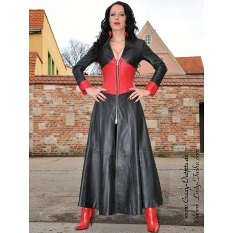 Leather coat 4-040 black