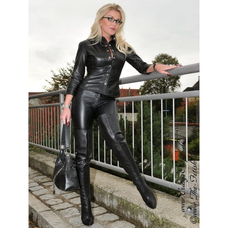 Leather Blouse Ds 332 Crazy Outfits Webshop For