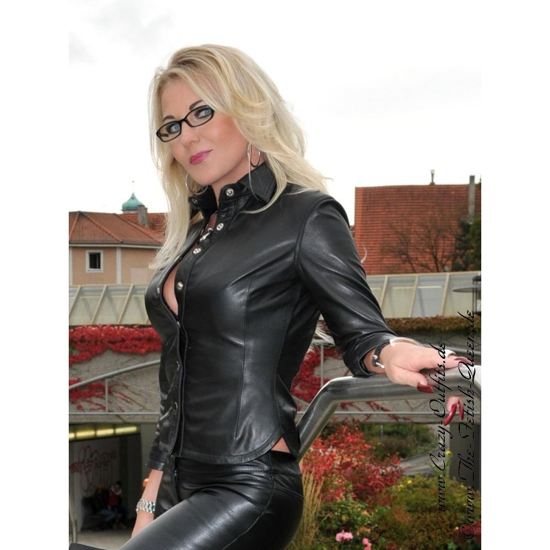 Leather blouse DS-332 : Crazy-Outfits - webshop for ...