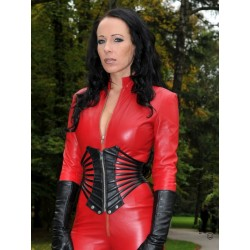 Leather corset DS-234 black