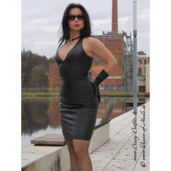 Leather dress DS-124