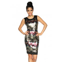 Sequin dress 13300 black/pattern