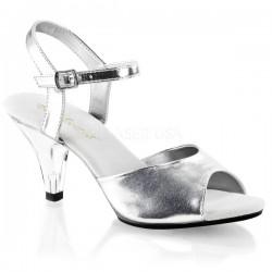 Sandalette Belle-309 Kunstleder Silber
