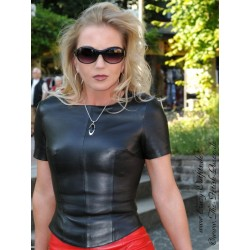 Leather top DS-302 black