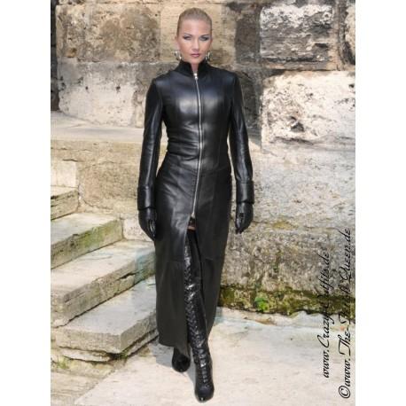 Leather coat 4-099HDS black