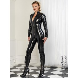 Vinyl catsuit 4-019V black