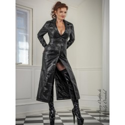 Leather coat DS-650 black