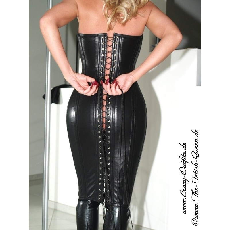Leather Corsage Dress Ds 002 Crazy Outfits Webshop For Leather