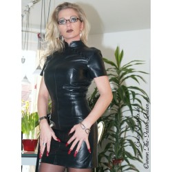 Leather dress DS-003