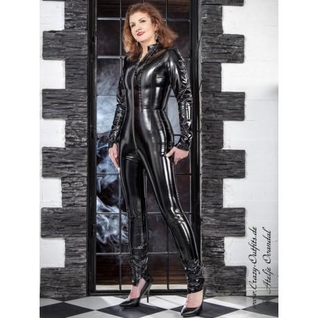 Vinyl catsuit 4-019KV black