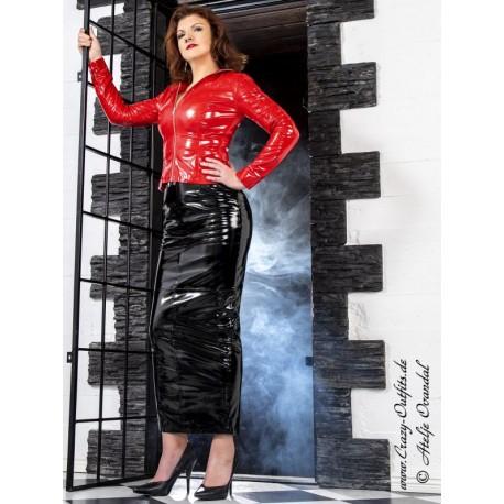 Vinyl skirt DS-070V black