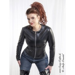 "Leather jacket ""Scarlett"" DS-658 black"