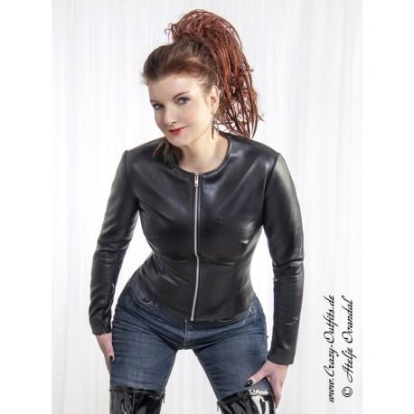 "Leather jacket ""Scarlett"" DS-658 black"