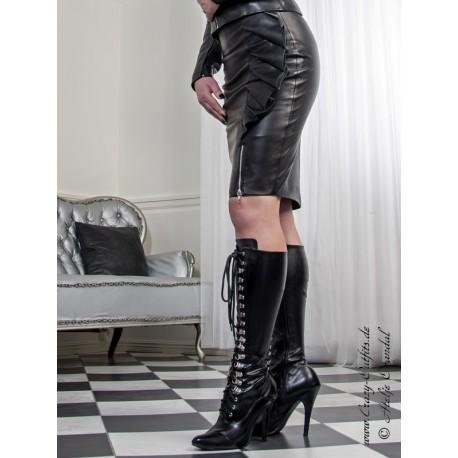 "Leather skirt ""Nizza"" DS-557 black"