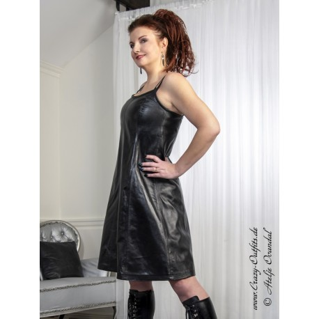 """Leather dress """"Dolly"""" DS-161 black"""
