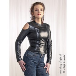"Leather top ""Sandra"" DS-333 black"