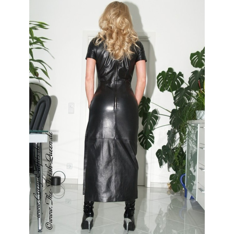 Leather Dress Long Ds 004 Crazy Outfits Webshop For