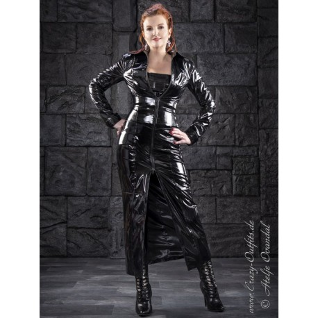 Vinyl coat 4-012HDSV black