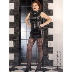"Leather dress ""Vanessa"" DS-164 black"
