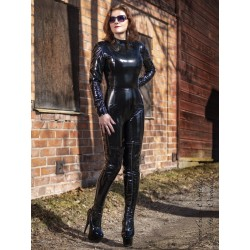 Vinyl catsuit DS-704V black