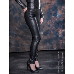 "Leather-Leggings ""Missy"" DS-437 black"