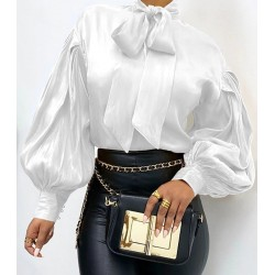 "Bow-tie blouse ""Grace"" white"