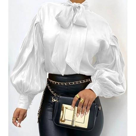 """Bow-tie blouse """"Grace"""" white"""