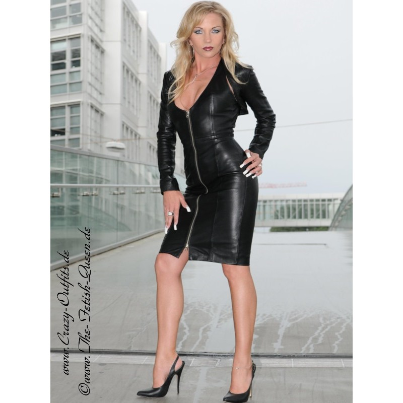 leather dress ds031  crazyoutfits  webshop for leather