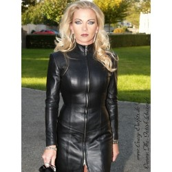 Leather dress DS-034
