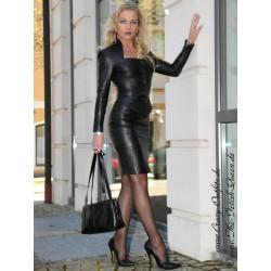 Leather suit DS-050 black