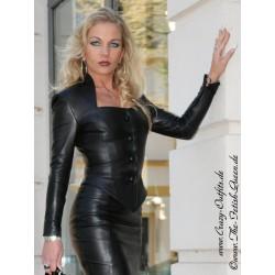 Leather jacket DS-050T black