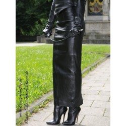 Leather skirt DS-070 black