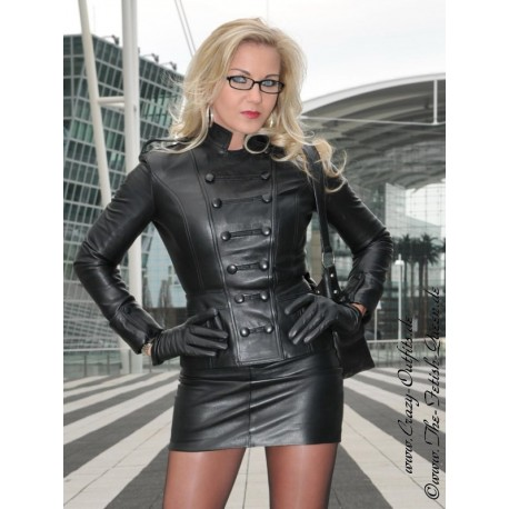 Leather skirt DS-101 black