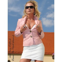 Leather skirt DS-101 white