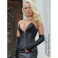 Leather corset DS-222 black