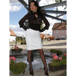 Leather skirt DS-105 white
