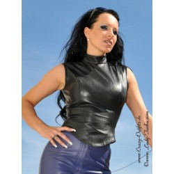 Leather top DS-312 black