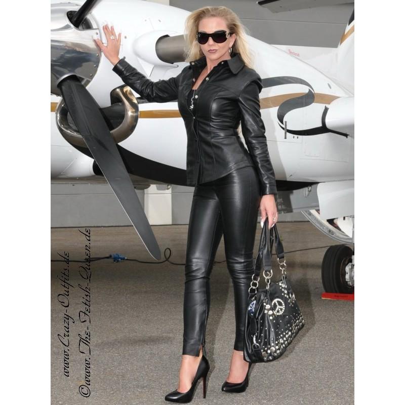 Veröffentlichungsdatum neue bilder von Top-Mode Lederbluse DS-316 : Crazy-Outfits - Webshop für ...