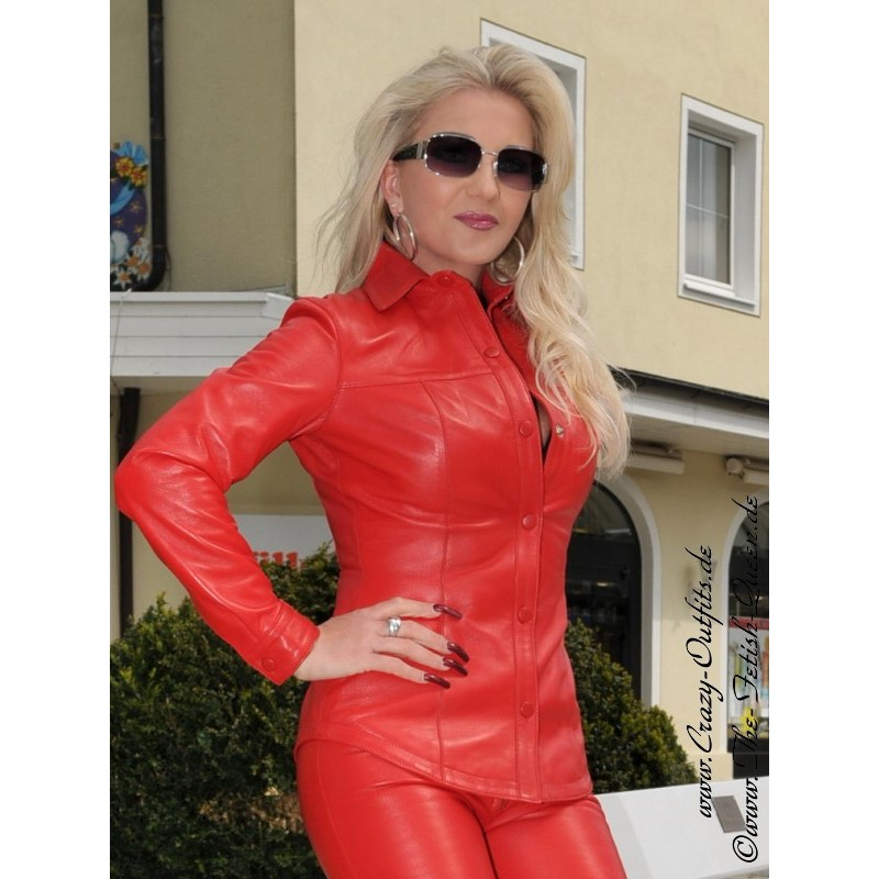 Leather blouse DS-316 : Crazy-Outfits - webshop for ...
