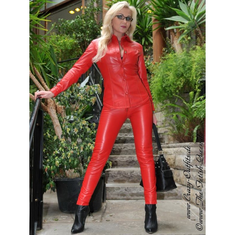 Leather Blouse Ds 316 Crazy Outfits Webshop For