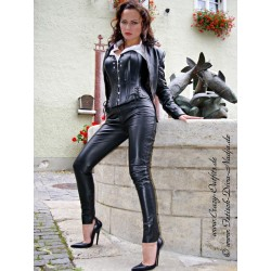 Leather trouser DS-406 black
