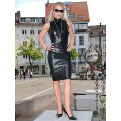 Leather skirt DS-504 black