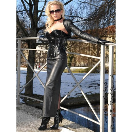 leather skirt ds506 crazyoutfits webshop for leather