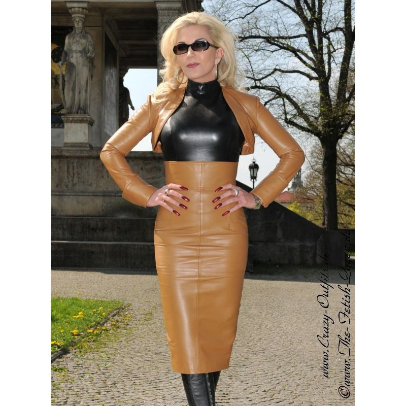 Leather Skirt DS 516 Camel