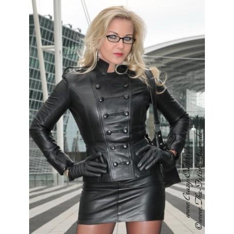 Leather jacket DS-604 black