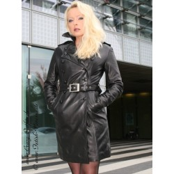 Leather coat DS-612 black