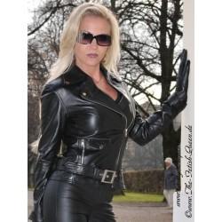 Leather jacket DS-614 black