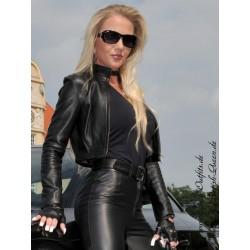 Leather jacket DS-620 black